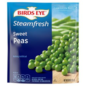 BIRD'S EYE STEAMFRESH SWEET PEAS, 10OZ