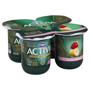 DANNON ACTIVIA STRAWBERRY BANANA YOGURT, 7OZ