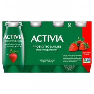 DANNON ACTIVIA DRINK STRAWBERRY, 7OZ