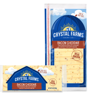 CF BACON CHEDDAR CHEESE, 8OZ