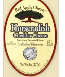 RED APPLE HORSERADISH CHEDDAR CHEESE, 8OZ
