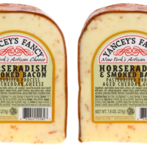 YANCEY'S CHEDDAR CHEESE HORSERADISH & SMOKED BACON, 7.6OZ