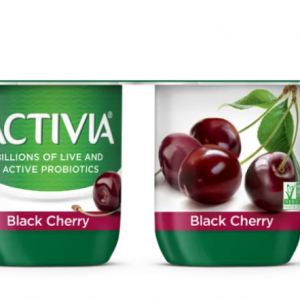 DANNON ACTIVIA BLACK CHERRY YOGURT 4OZ, 4PK