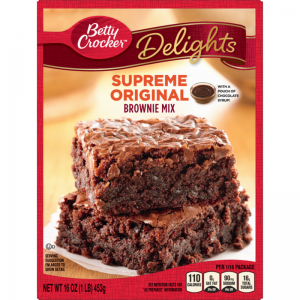 BETTY CROCKER DELIGHTS SUPREME BROWNIE MIX, 16OZ