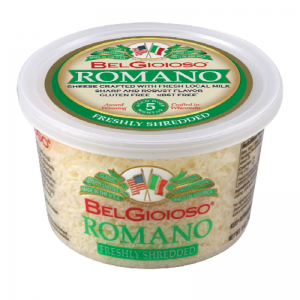 BELGIOIOSO ROMANO SHREDDED CHEESE, 5OZ