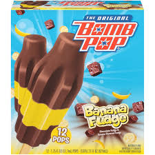 Bomb Pop Banana Fudge Ice Pops , 12pk