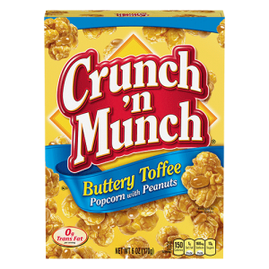 CRUNCH AND MUNCH BUTTERY TOFFEE POPCORN, 10OZ