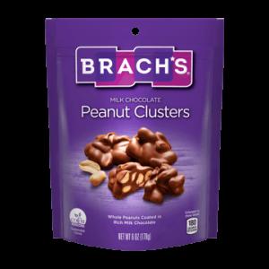 BRACHS MILK CHOCOLATE PEANUT CLUSTERS, 8.6OZ