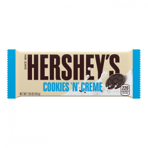 HERSHEY'S COOKIES N CREME CHOCOLATE BAR, 1.5OZ