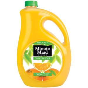MINUTE MAID ORANGE JUICE COUNTRY STYLE, 128OZ