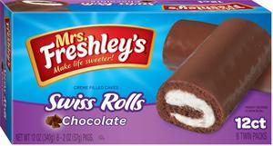 MRS. FRESHLEY'S SWISS ROLLS, 12CT