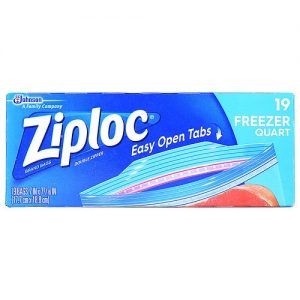 Ziploc Freezer Bags – 1 Qt – 19 Ct