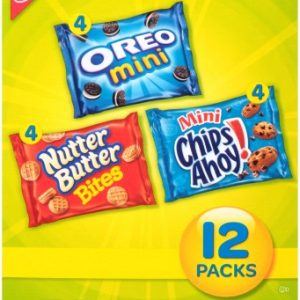 Nabisco Mini Cookie Variety Pack, 1 Oz. Bags, 48 Bags/Box