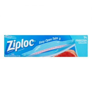 Ziploc 00389 Double Zipper Freezer Bags, Gallon, 14/pk