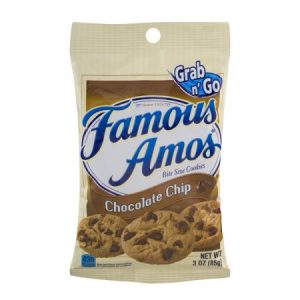 Famous Amos Grab N' Go Bite Size Chocolate Chip Cookies, 3.0 OZ