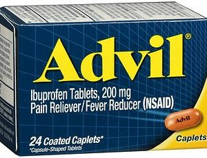Advil Coated Tablets Pain Reliever and Fever Reducer, Ibuprofen 200mg, 24 Count, Fast-Acting Formula for Headache Relief, Toothache Pain Relief and Ar