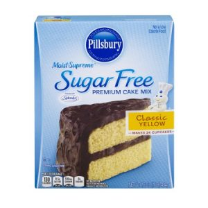 (4 Pack) Pillsbury Moist Supreme Sugar Free Classic Yellow Premium Cake Mix, 16 Oz
