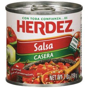 (2 Pack) Herdez Salsa Casera Hot, 7 Ounce