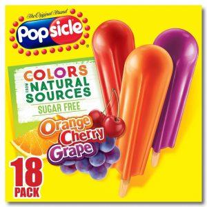 Popsicle Sugar Free Orange Cherry Grape Ice Pops 18 Ice Pops