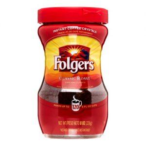 Folgers Classic Medium Roast Instant Coffee – 8oz