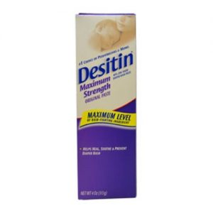 Desitin Maximum Strength Baby Diaper Rash Cream with Zinc Oxide, 4 Oz