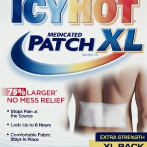 (3 Pack) Icy Hot Medicated Patch XL Back and Large Areas – 3 CT