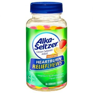 Alka-Seltzer Heartburn ReliefChews Antacid Chewable Tablets Assorted Fruit, 36 Ct   CVS