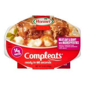 (6 Pack) Hormel Compleats Meatloaf & Gravy with Mashed Potatoes, 9 Ounce