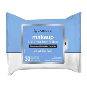Clarisse Make up Remover Cleansing and Moisturizing Towelettes, 30 Ea