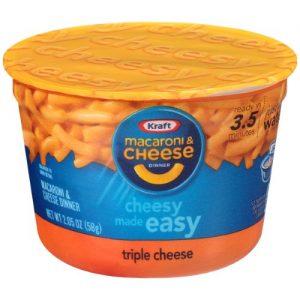 Kraft Easy Mac Triple Cheese Macaroni and Cheese, 2.05 Oz Cup