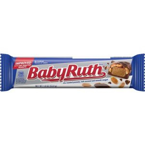 Baby Ruth Bar – Improved Recipe with Dry Roasted Peanuts, 1.9 Ounces