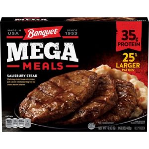 Banquet Mega Meals Salisbury Steak Frozen Dinner 16.95 Ounce