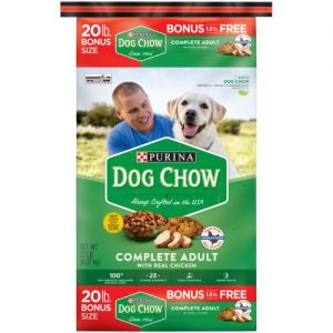 Purina Dog Chow with Real Chicken Adult Complete & Balanced Dry Dog Food – 18.5lbs