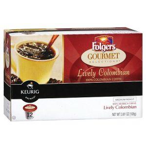 Folgers Coffee 100% Colombian Keurig K-Cups