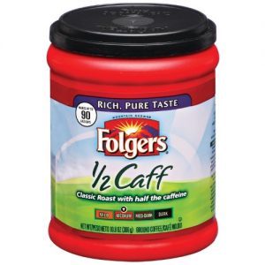 Folgers Half Caff Coffee, 10.8 Oz. Canister | Quill
