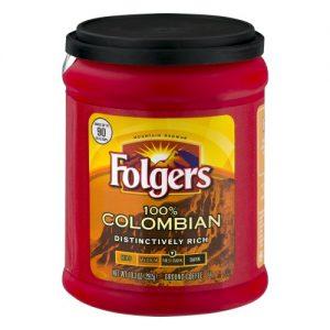 Folgers 100% Colombian Medium Dark Roast Ground Coffee – 10.3oz