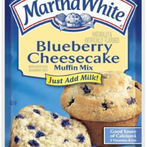 (6 Pack) Martha White Blueberry Cheesecake Muffin Mix, 7oz