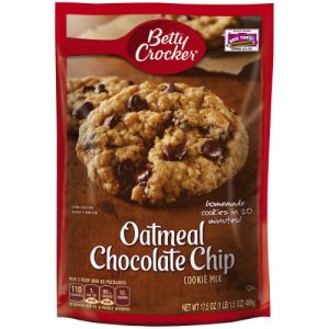 (6 Pack) Betty Crocker Oatmeal Chocolate Chip Cookie Mix, 17.5 Oz