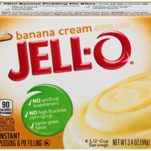 (3 Pack) Jell-O Banana Cream Instant Pudding, 3.4 Oz Box