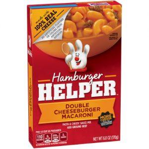 Hamburger Helper Double Cheeseburger Macaroni Hamburger Helper 6 Oz