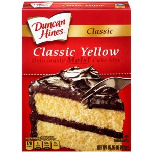 (12 Pack) Duncan Hines Classic Yellow Deliciously Moist Cake Mix 15.25 Oz