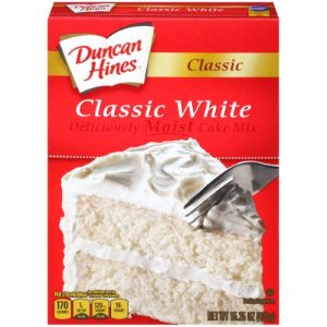 Duncan Hines Classic White Cake Mix 15.25 Oz Box