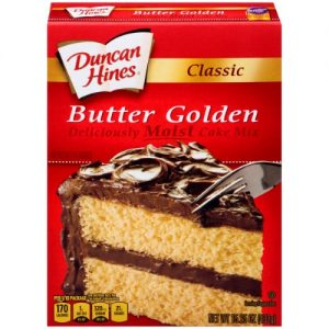 (12 Pack) Duncan Hines Classic Butter Golden Cake Mix, 15.25 Oz