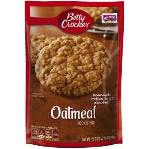 (12 Pack) Betty Crocker Baking Mix, Oatmeal Cookie Mix, 17.5 Oz Pouch