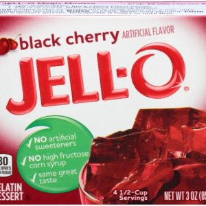 (3 Pack) Jell-O Black Cherry Instant Powdered Gelatin Dessert, 3 Oz Bag