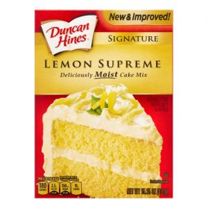 Duncan Hines Lemon Supreme Cakes – 12ct/15.25oz