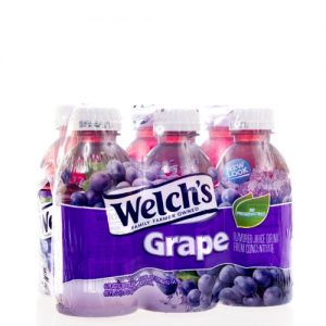 (4 Pack) Welch's Juice, Grape, 10 Fl Oz, 6 Count