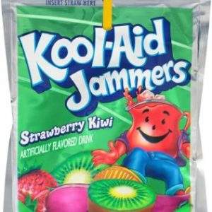 (5 Pack) Kool-Aid Jammers Strawberry Kiwi Ready-to-Drink Soft Drink, 10 – 6 Fl Oz Packets