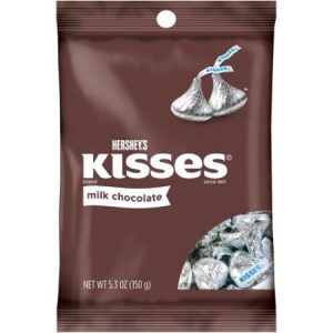 (4 Pack) Kisses, Milk Chocolate Candy, 5.3 Oz
