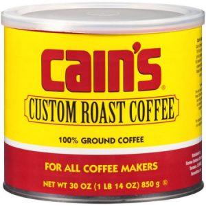 Cain's Custom Roast Ground Coffee, 30 Oz